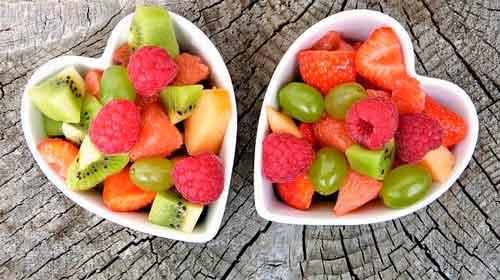 Bolos de ensalada de frutas