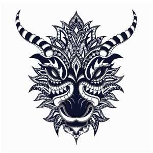 Cabeza dragón estilizado tatuaje