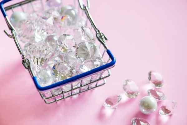 Diamantes en cesta