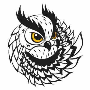 Dibujo de bonito búho para tatuaje