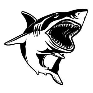 Diseño tiburón para tatuaje