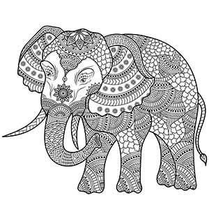 Elefante decorado flor de loto