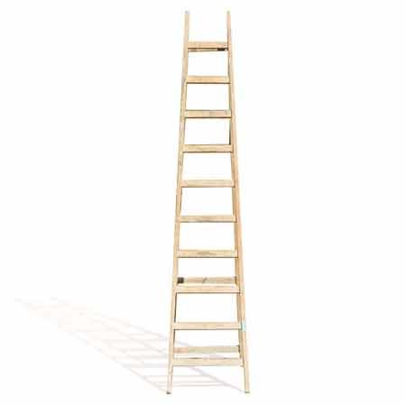 Escalera de trabajo de madera
