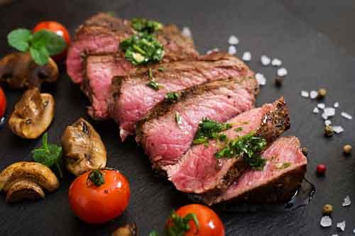 Rico bistec poco cocinado