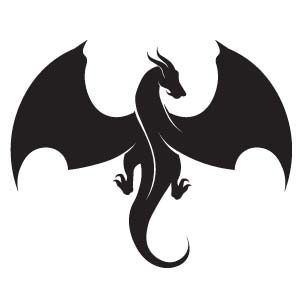 Silueta dragón para tatuaje